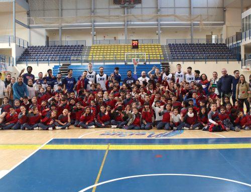 El CEIP Gabriel de Morales visita el entrenamiento del Club Melilla Baloncesto
