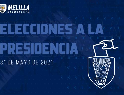 Información sobre el proceso electoral a presidente del Club Melilla Baloncesto