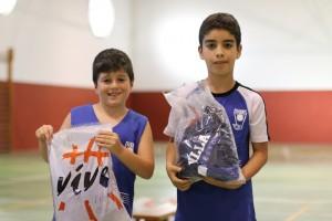 Dani y Nadim Ganadores Tiro Pequebasket